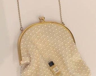 Vintage Corde Bead Evening Bag