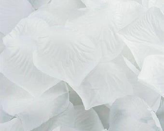 180 Silk Floral White Rose Petals