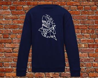 Shark sweater, shark tattoo, polish sweater, kurwa sweater, kurwa, tattoo shirt, classic tattoo art, hipster gift, gift for tattoo lover