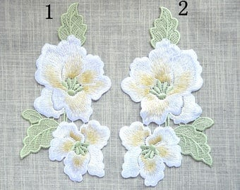 Light yellow Embroidery flower patch ,flower embroidered patch