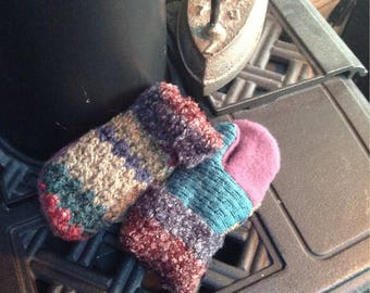 Toddler sweater mittens