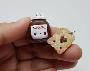 Kawaii Nutella and Bread Charms