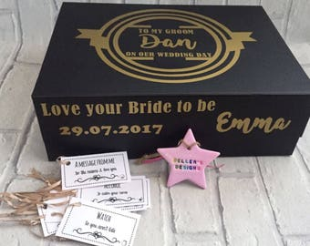 Groom's Wedding Day Gift Box With Tags