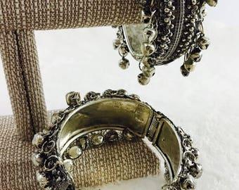 Broad Ghungri bangles/oxidized silver jewelry/ oxidized silver kada