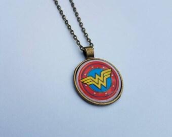 Wonderwoman Necklace; wonderwoman gifts; wonderwoman Jewlery
