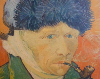 Van Gogh Great reproduction of the self-portrait with the bandaged ear or The Man with the pipe