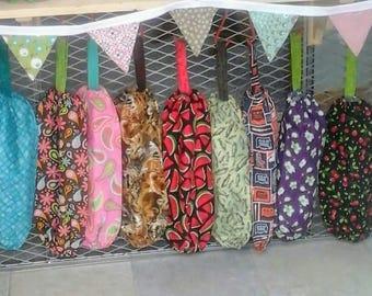 Plastic bag holder grocery bag storage, kitchen bag