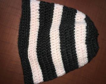 Striped Messy-Bun Hat