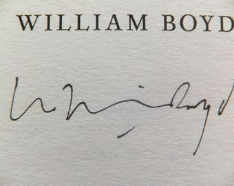 signed 1st first edition William Boyd book  The Dreams of Bethany Mellmoth