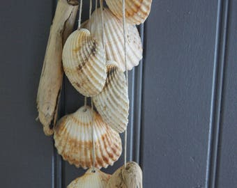 suspension chime Garland shells and Driftwood