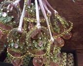 Princess elegant baby shower pacifier/princess elegant baby shower necklace game/princess elegant baby shower favor/crown elegan baby shower