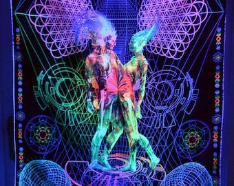 Art Print Unity (Big)     - Psychedelic Canvas UV Spiritual Gift Sacred Geometry Trance Visionary