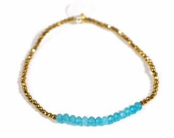 Hematite bracelet & gemstones