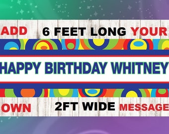 groovy Birthday, groovy Party Banner - Happy Birthday Banner - Custom Banner - groovy Decorations - groovy