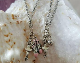 OOAK Ballerina necklaces for Monster High, American Girl, or Ball Jointed Doll.