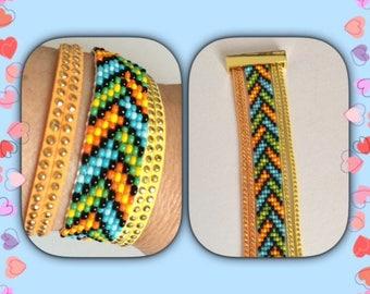 Summer color Cuff Bracelet.