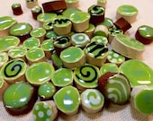 Green Handmade Ceramic Mo...