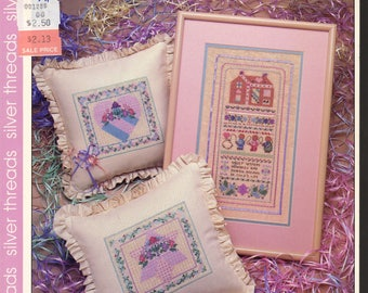 A Pink Parfait Cross Stitch Book by The Vanessa Ann Collection --VAC 708