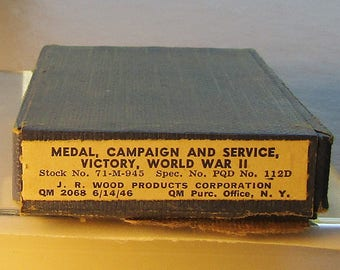 WWII Boxed WW11 VICTORY Medal