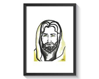 Jesus of Nazareth Original Watercolor Print
