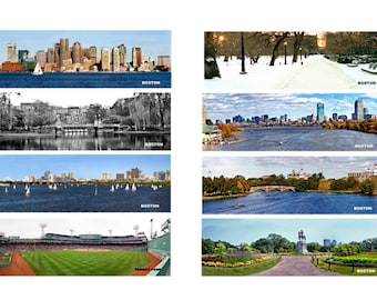 Boston book markers ( 8 )  2.5 x 8  dbl. sided  laminated