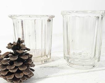 Glass Jam Jar Vintage Set, French Jam Jars, French Jam Pot, Confiture Pot,French Jelly Jars, Jam Pot, Jelly Jars Vintage, Jelly Pot