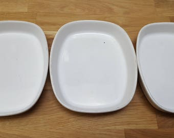 Pfaltzgraff American Airline white snack dishes - set of three