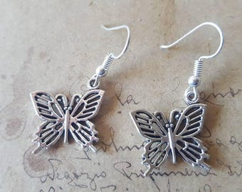 Butterfly Earrings ~ Silver Colors ~