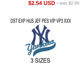 TODAY SALE 15% New York Yankees embroidery design logo / embroidery designs / INSTANT download machine embroidery pattern