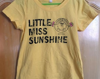 Little Miss Sunshine Vintage Yellow Shirt M Y