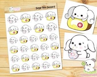 Dessert / Dessert Time Sugar Bun Bunny Emoji/ Emotions Planner Stickers