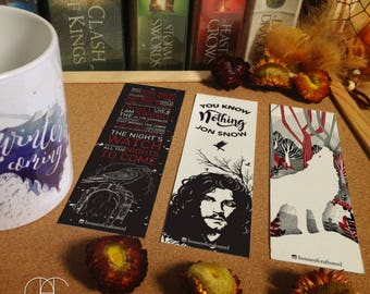 Jon Snow Bookmarks Set