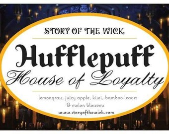 Pre Order - Hufflepuff House of Loyalty - Harry Potter Inspired Soy Candle