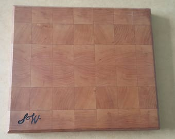 Cherry end grain cutting board