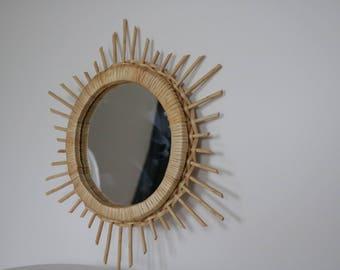 Miroir soleil etsy for Miroir mural soleil