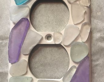 Decorative Sea Glass Outlet Cover