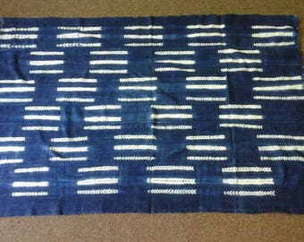 Vintage african indigo cloth,African mudcloth, Indigo mudcloth Fabric, Hand woven, Wholesale fabric, African cloth,African fabric