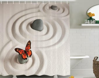 Butterfly on the Sand Shower Curtain