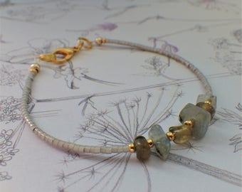 Bracelet gemstones chips & Miyuki
