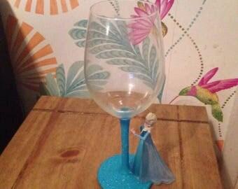 Frozen Elsa wine glass