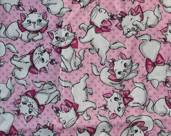Fabric remnant - disneys aristocats - marie kitty