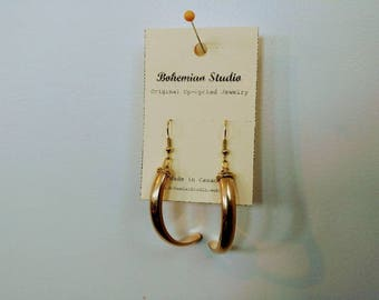 Upcycled Gold Claw wire wrapped earrings