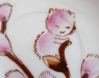 adorable vintage made in japan doll tea set cat