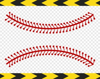 Baseball laces stitches Softball Svg Clipart Commercial use Cricut designs Dxf Pdf Png files