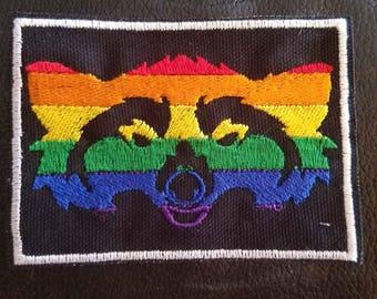 Pride raccoon head lgbtqipa lgbtq queer pride lgbt gay pride bisexual pansexual trans transgender asexual aromantic