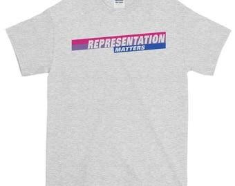 Representation Matters Bi Pride Brooklyn 99 Short-Sleeve T-Shirt, b99, brooklyn 99, lgbt, lgbtq, bi pride, bisexual pride