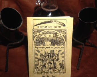 Spring of Wyrd: Psychotropic Meads and Outlaw Ales zine / mead/ wyrd/ seidr/ witchcraft/ brewing / herbalist / occult zine + free patch