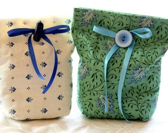 2 bags of off white and lavender blue, green and blue, lavender falls France ref 11 flowers