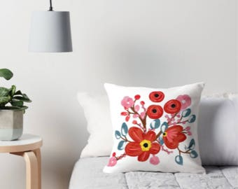Vintage flower pillow covers only