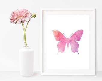Butterfly Wall Art, Butterfly Printable, Butterfly Birthday Decor, Butterfly Art, Wall Print Download, Butterfly Nursery, Butterfly Art Gift